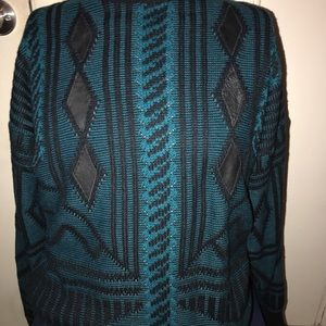 Other - Street Scenes Knitted Green & Black Sweater
